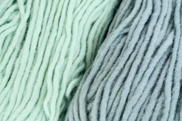 Flat lay of yarn for crochet