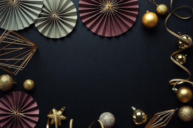 Минималистичный рождественский flat lay