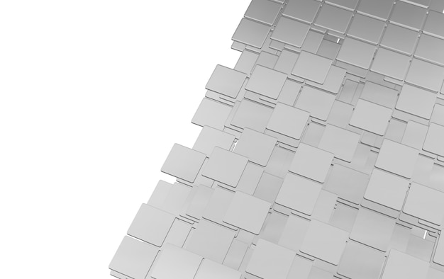平らな正方形のシート角は層状に入れ子になっています。白い背景に
