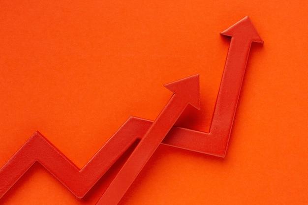 Piatto di presentazione delle statistiche con le frecce Foto Gratuite