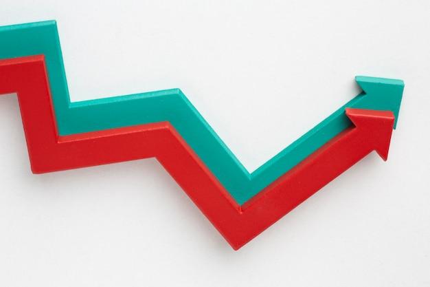 Piatto di presentazione delle statistiche con le frecce