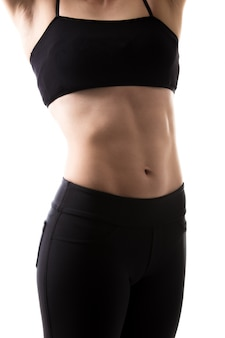 Flat stomach of a woman