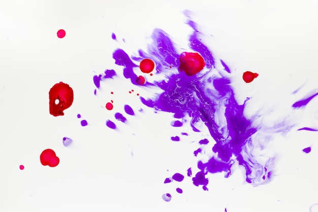 Flat view of splashes of paint