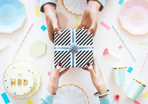 Flatlay празднования дня рождения