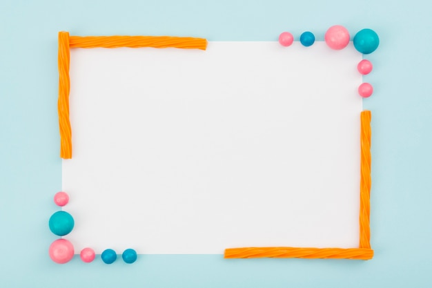 Flavored candies frame creation