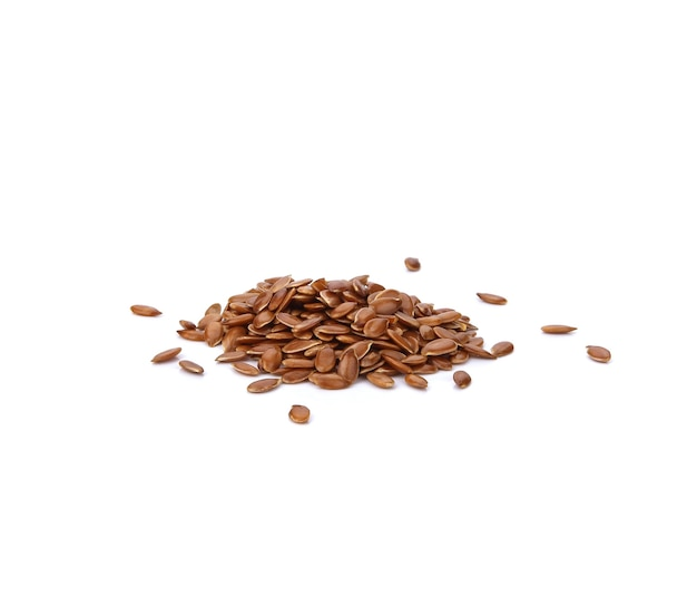 Flax seed or linseed , isolated on white background