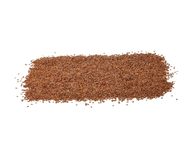 Flax seed or linseed , isolated on white surface