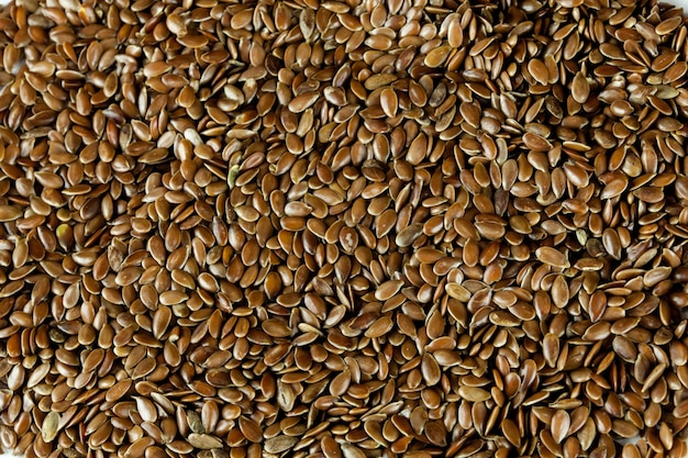 Flax seeds texture background abstract natural