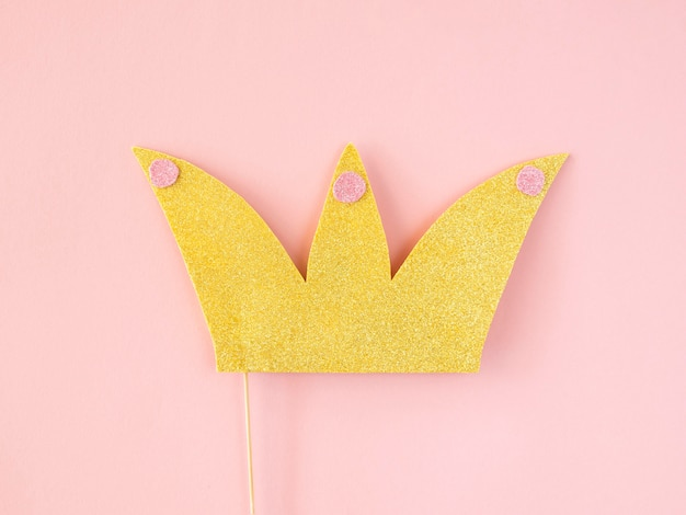 Flay lay of beautiful crown concept