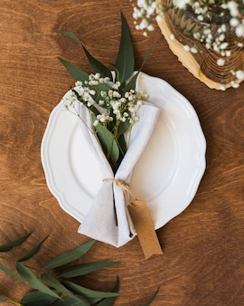 Flay lay table arrangement