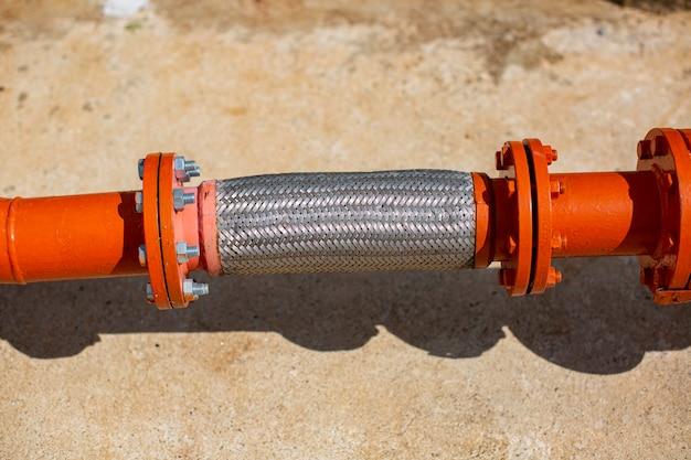 산업용 화학 물질용 플렉스 호스 탄소강. 플랜지 배관 시스템 소방용 플렉시블 호스