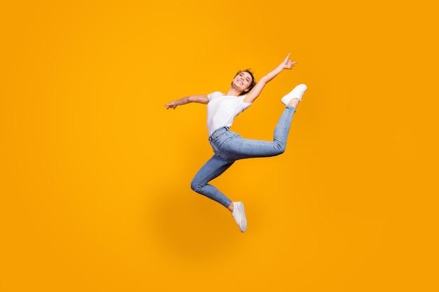Flexible body artist dancer performance jumping