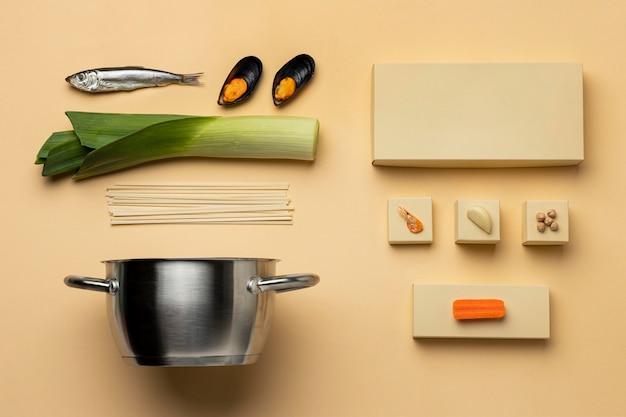 Flexitarian 다이어트 및 냄비 배열