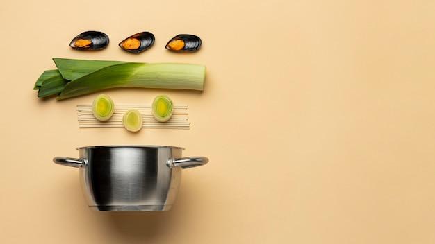 準菜食主義の食事療法とポットフレーム
