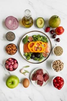 Flexitarian 다이어트 음식 배열