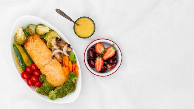 Assortimento di alimenti dietetici flessibili