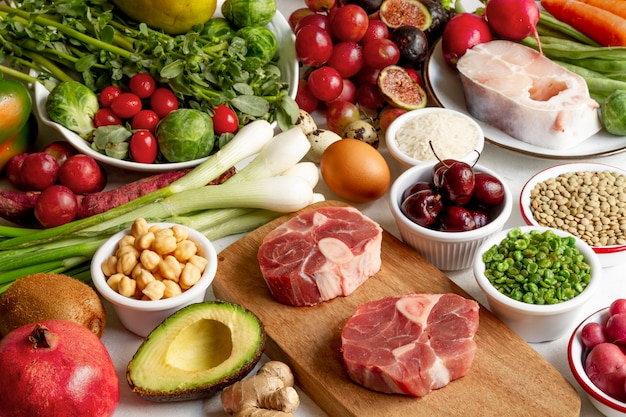 準菜食主義の食品の品揃え