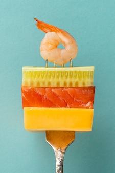 Dieta flessibile e assortimento di forchette