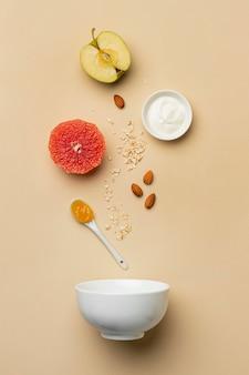 フルーツアレンジメントを伴う準菜食主義