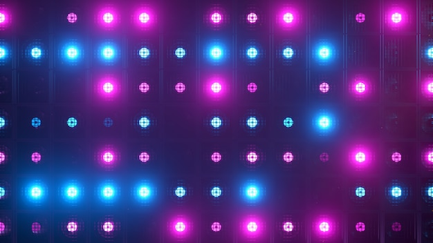 Flicker wall lights. flashing lights lanterns for clubs and discos. nightclub halogen lamp. modern neon spectrum.