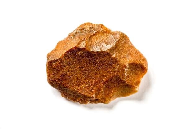 Кремневый камень, изолированные на белом фоне