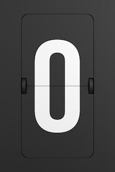 Flip black scoreboard number. 3d rendering