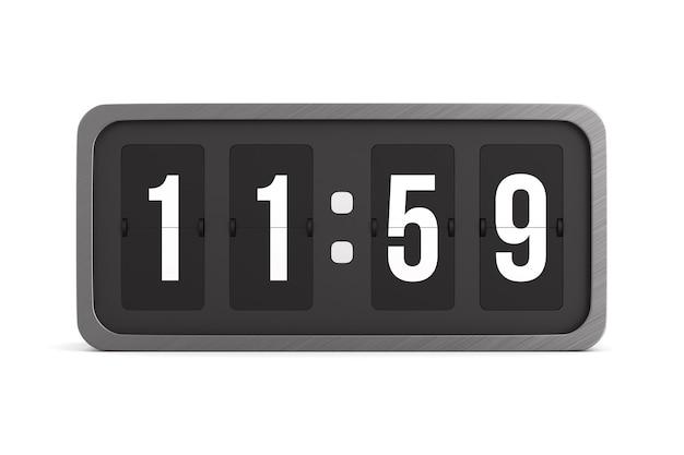 Flip black scoreboard number