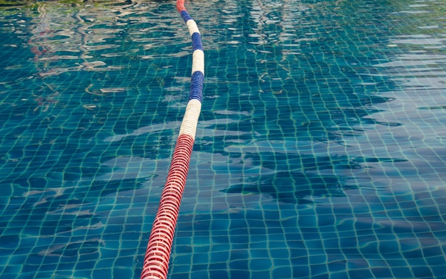 A floating buoy in the pool.
