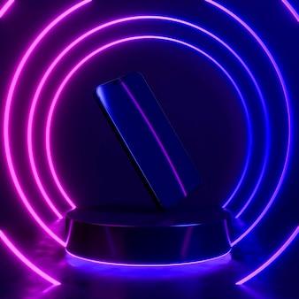 네온 불빛이있는 플로팅 장치