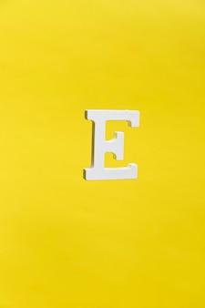 Floating letter e background concept