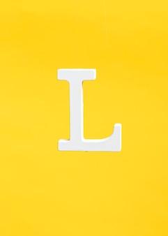 Floating letter l background concept