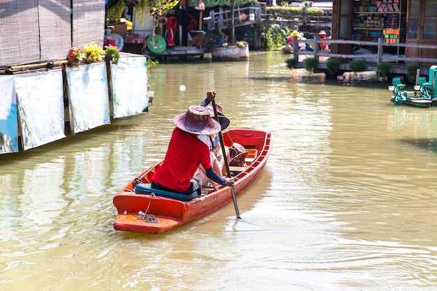 Floating market in pattaya, thailand