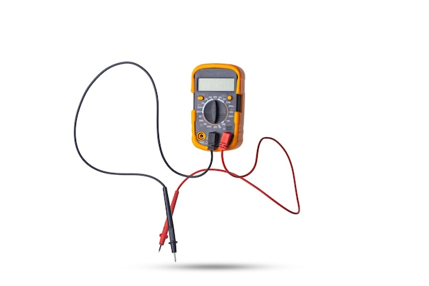 Floating multimeter on a white background