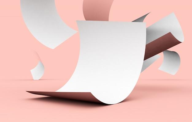 Плавающий лист бумаги