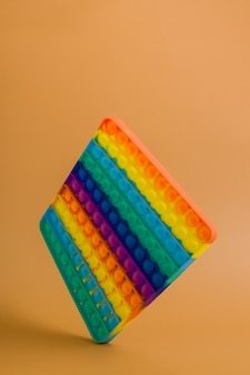 Floating rainbow silicone toy antistress pop it