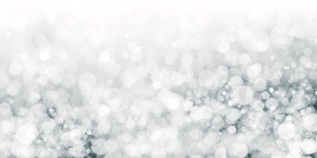 フローティング白いボケ黒の背景白いスターダスト3dイラスト