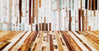 Floor and wall wood plank background