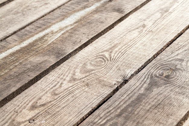 Floor boards, located outdoors