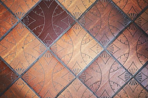 床の粘土のタイルの背景