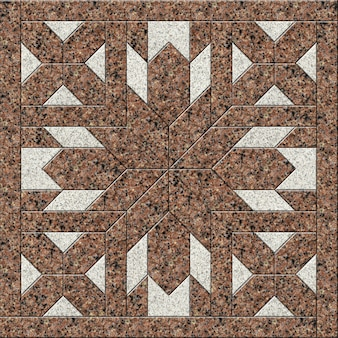 Floor decorative tiles made of natural granite. geometric stone pattern. element for design