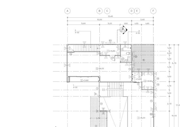 План этажа спроектированного здания по чертежу