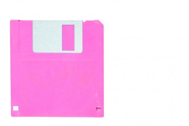 Дисковод гибких дисков изолированный на белизне с путем клиппирования, винтажной концепции технологии
