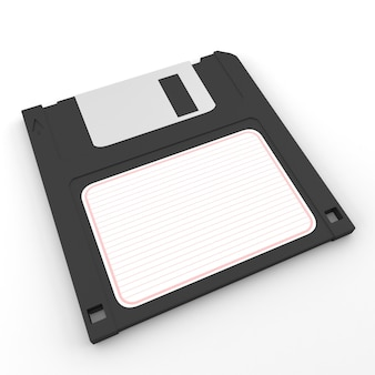 Floppy disk on white isolated