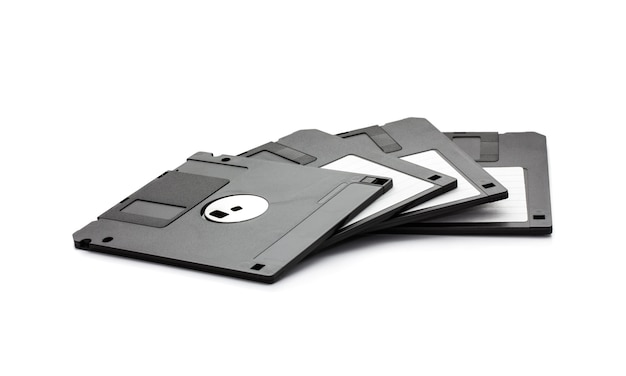 Floppy disks isolated on white