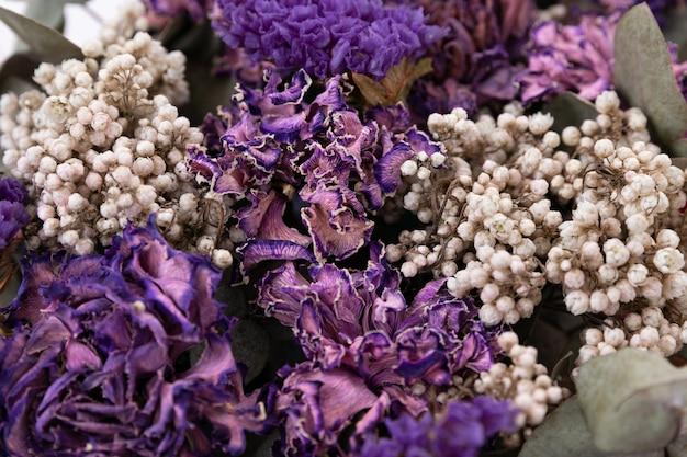 꽃꽂이 꽃 장식 말린 꽃 근접 촬영 피사계 심도 사진
