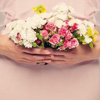 グリーティングカードの花の背景