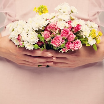 Floral background for greeting card