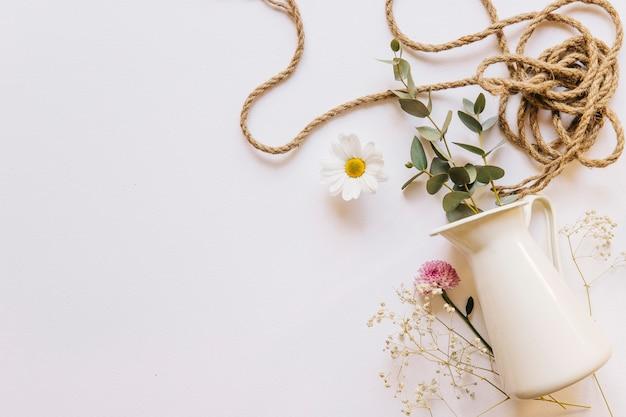ロープと花の背景