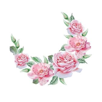 Цветочная открытка с цветами.