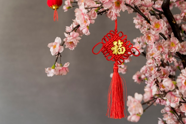 Floral chinese new year decoration